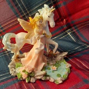 Unicorn and fairy knick knack